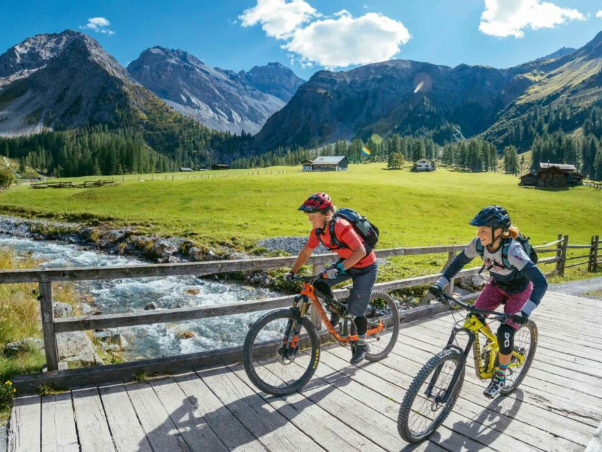 Mountain-Biken in der Bergregion von Klosters
